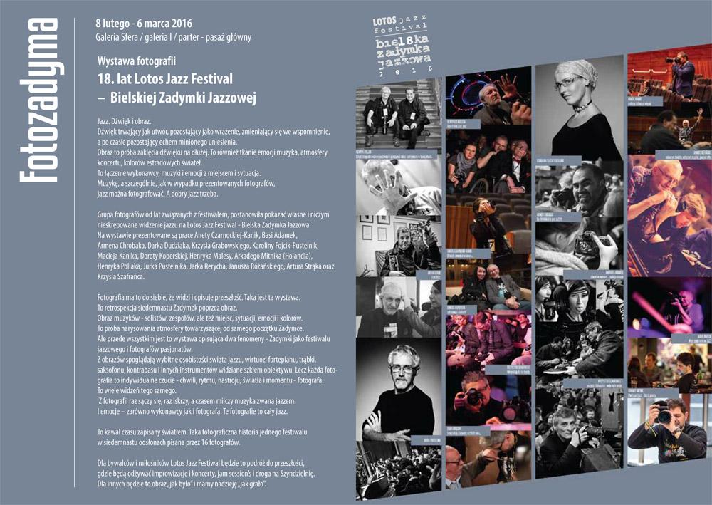 Wystawa zbiorowa podczas 18 Zadymki Jazzowej